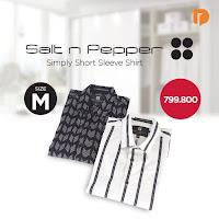 Dusdusan Salt N Pepper Simply Short Sleeve Shirt Size M (Set of 2) ANDHIMIND