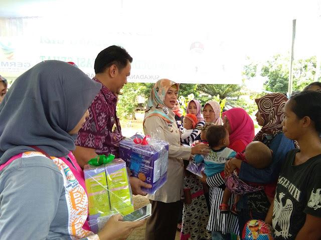 Bupati Lamtim Launchingkan Sambang Gizi Untuk Balita Dan Ibu Hamil