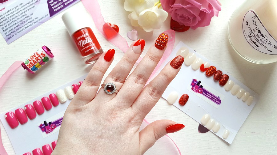 Red nail art, nail swag, heart themed nails, red nails, The style Guide Blog