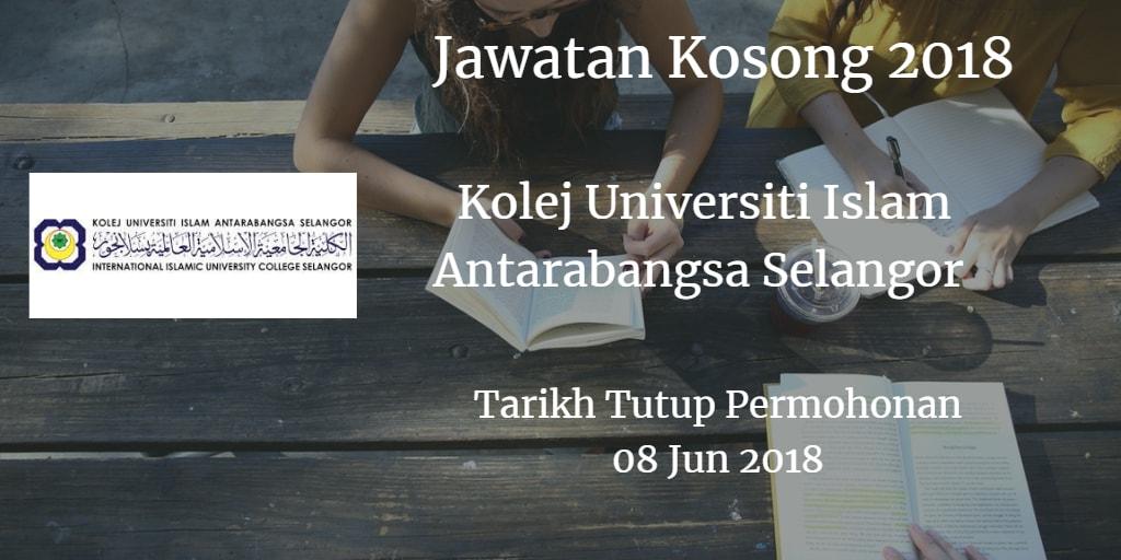 Jawatan Kosong KUIS 08 Jun 2018