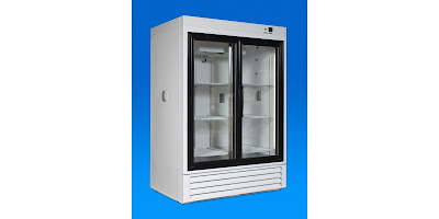 sliding glass door laboratory refrigerator