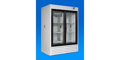 sliding glass door laboratory refrigerator