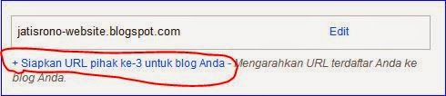 cara setting custom domain di blogger