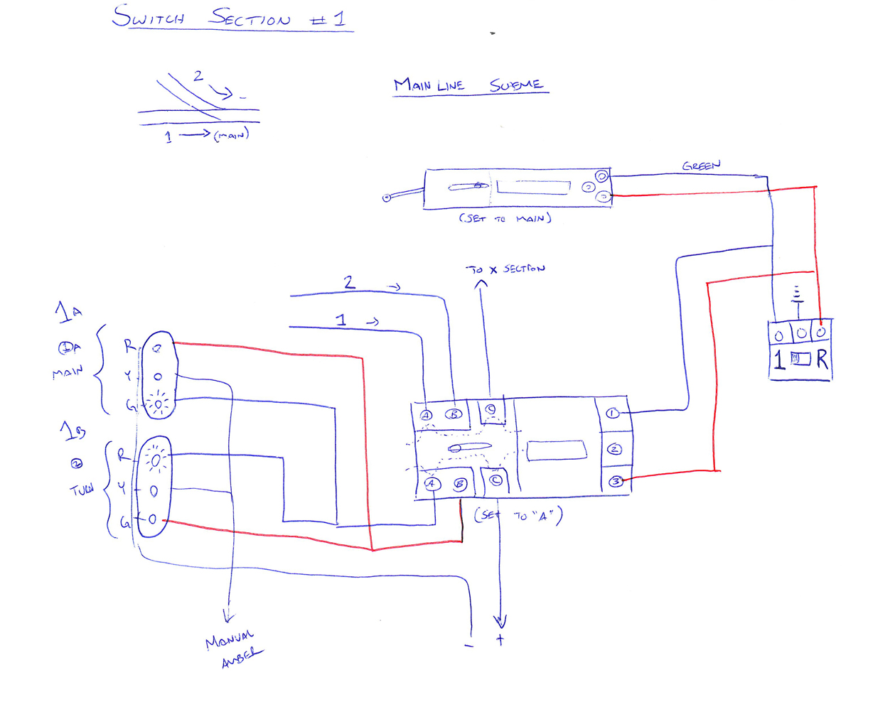 Relay And Switch Machine Control Wiring Diagram For Trackside Lights Lighting Rh Cabanaselgolfo Com