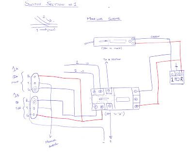 Original sketch of wiring diagram for trackside signals