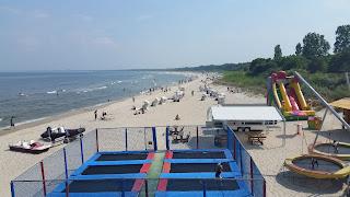 Heringsdorfer Strand bei fast sommerlichen Temperaturen