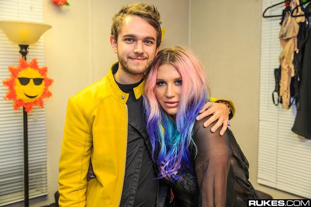 Kesha vuelve al estudio de grabación y le agradece Zedd por ayudarla.