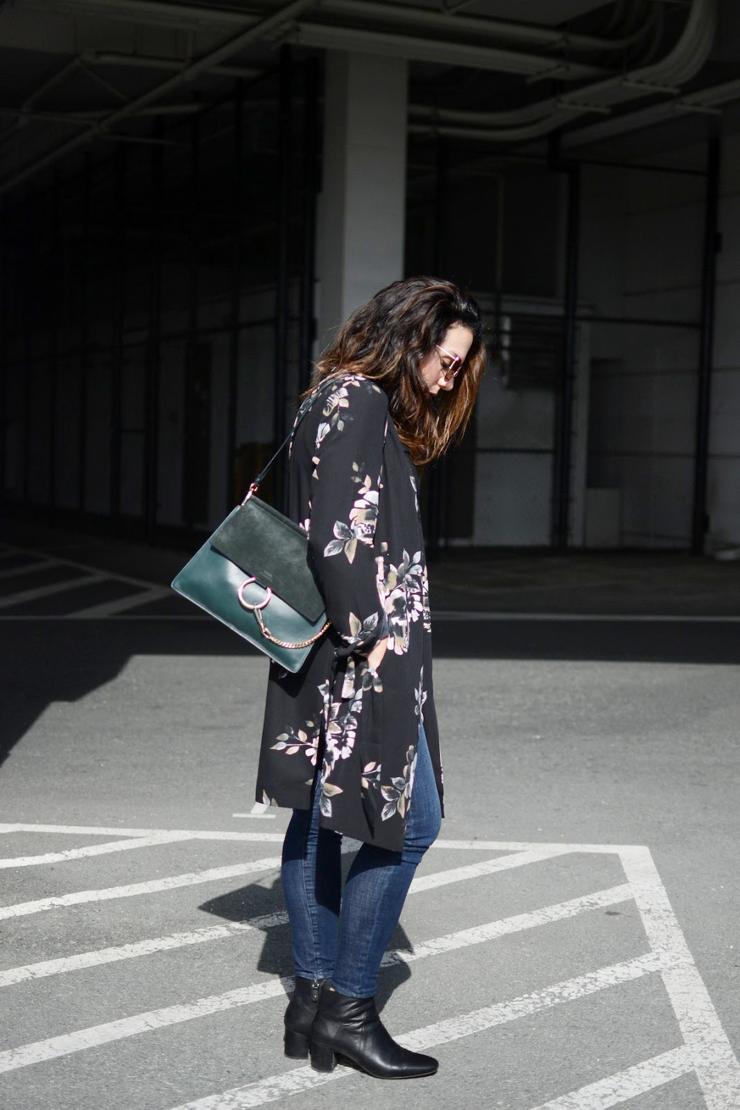 Le Chateau floral trench coat chloe faye bag vancouver blogger 8