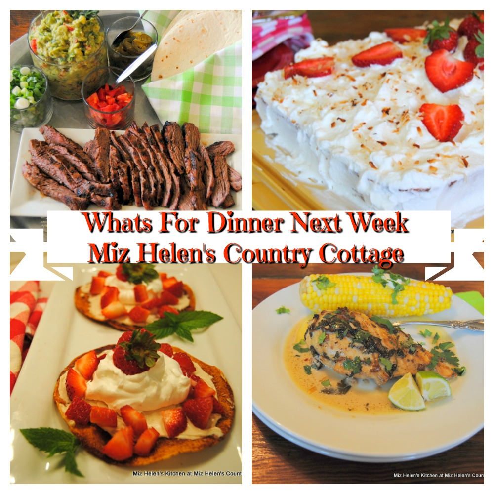 Whats For Dinner Next Week * Week of 5-2-21