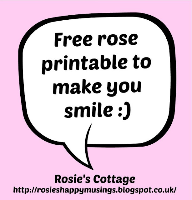Free rose printable to make you smile