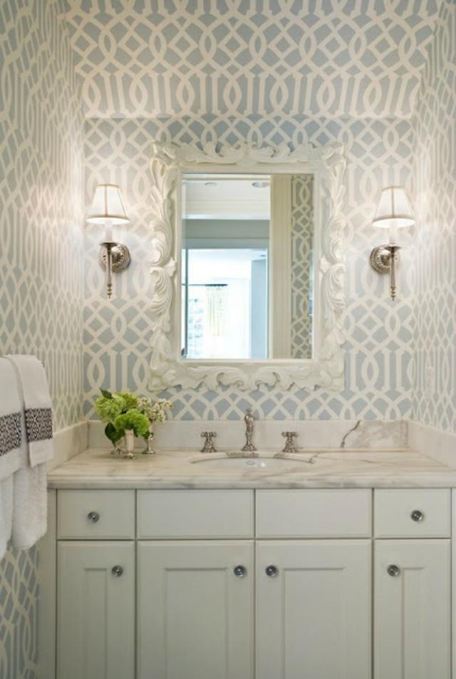 Calming and fresh bathroom