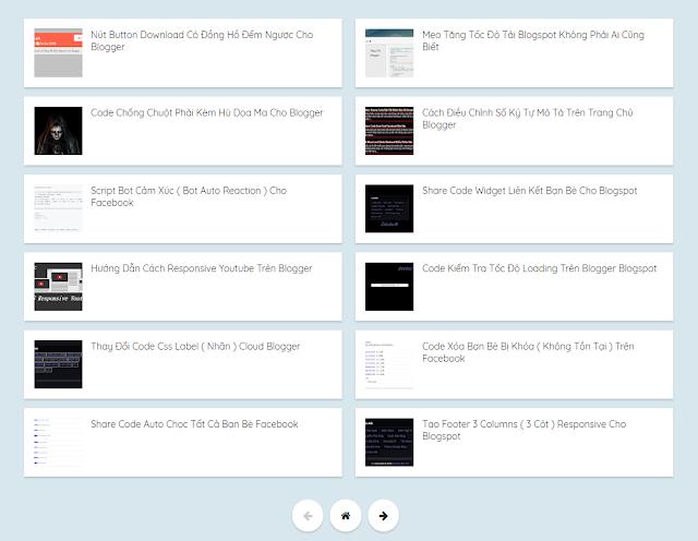 Recent post theo từng nhãn cho Blog trên trang tĩnh, Code Tạo Recent Post, Widget Recent Posts blogspot, Recent Posts widget bài viết mới nhất