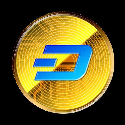 仮想通貨ダッシュのフリー素材(金貨ver)