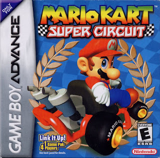 Portada del cartucho de Mario Kart Super circuit para la Game Boy Advance