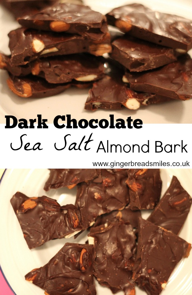 Dark Chocolate Sea Salt Almond Bark Recipe