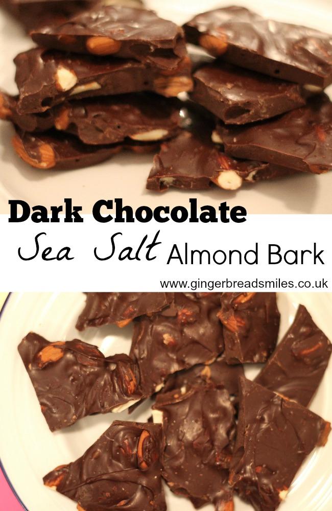 Dark Chocolate Sea Salt Almond Bark Recipe