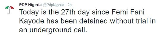 ffk2 PDP Speaks On FFK's Detention news
