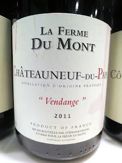 La Ferme Du Mont Châteauneuf-du-Pape Vendange 2011 (91+ pts)