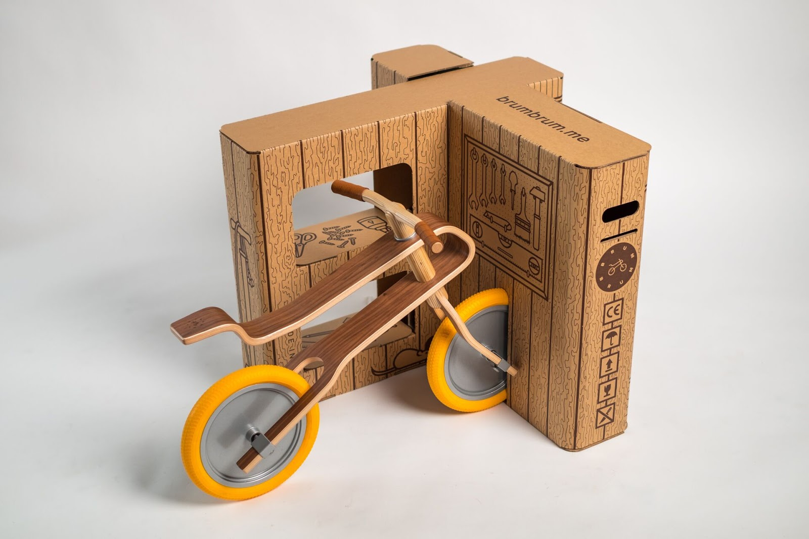 Wooden Balance Bike >> Brum Box on Packaging of the World - Creative Package Design Gallery