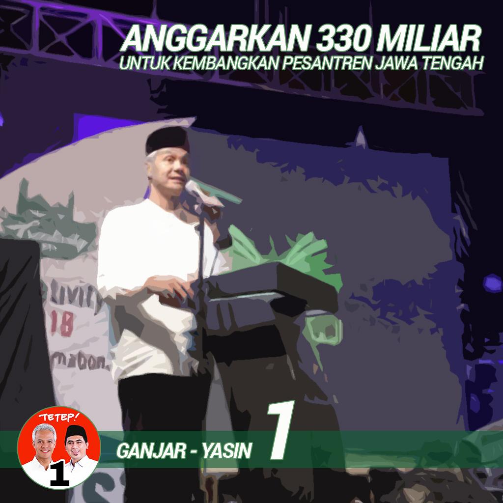 Ganjar Janjikan Rp 300 Miliar Untuk Pondok Pesantren
