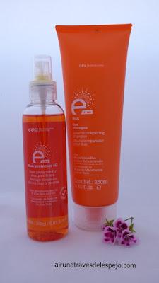 productos solares protección cabello eva professional