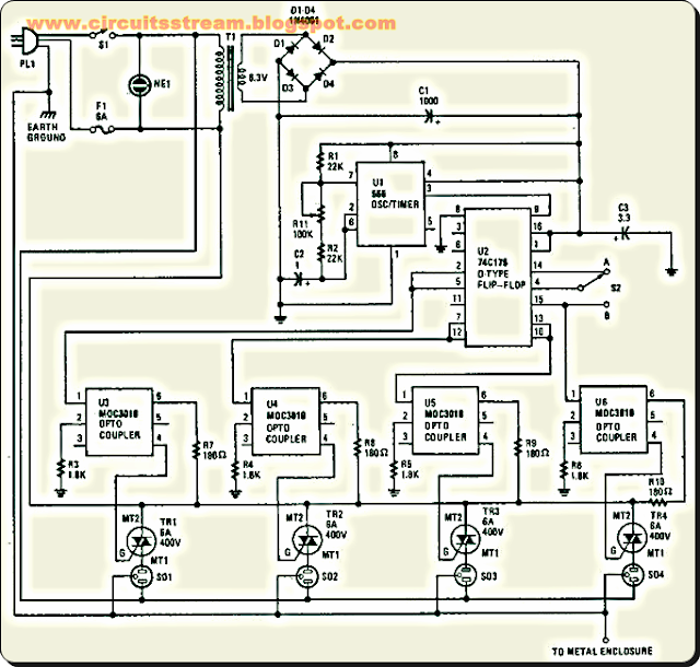 Best Holiday Lighting Sequencer Circuit Diagram