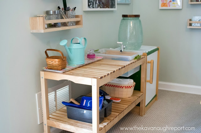 A DIY IKEA hack water basin for our Montessori home