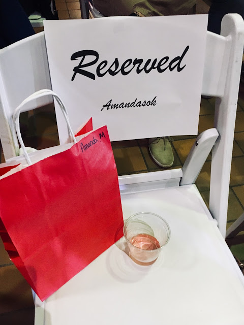 reserved seat at fashion show