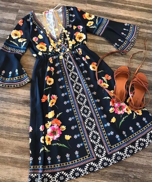Bohemian-dress-with-sandal