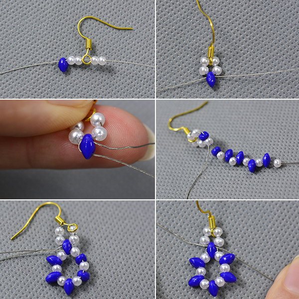 crafting wire diy purple bead earrings with seed