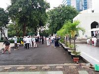 Massa FPI Mulai Berdatangan ke Masjid Al-Azhar
