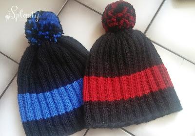 męskie czapki na drutach z żyłką