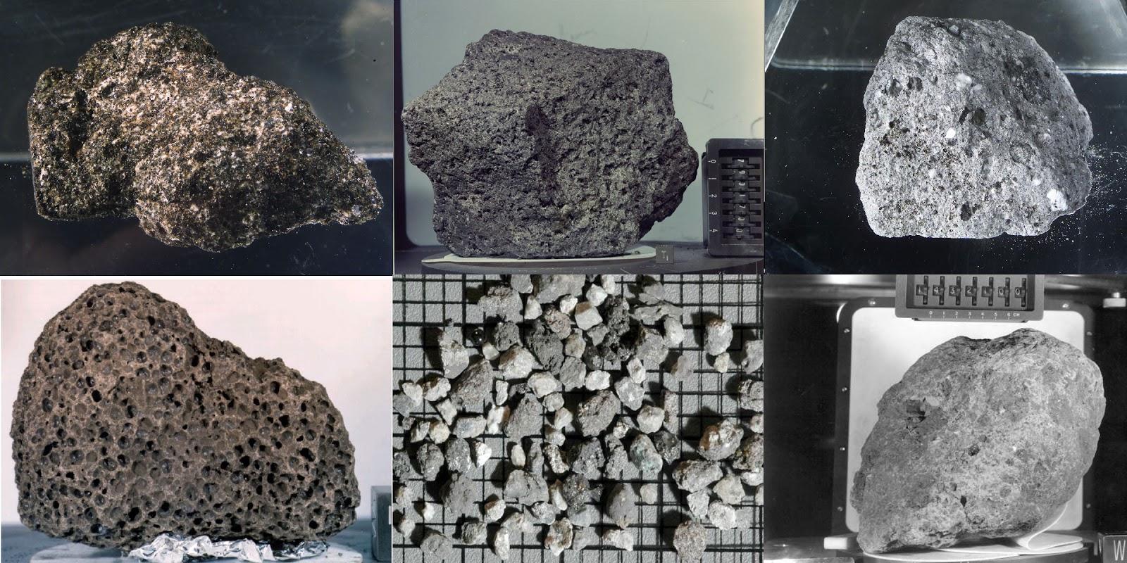 Supostas pedras vindas da Lua