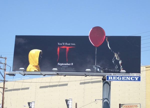 IT red balloon cut-out billboard