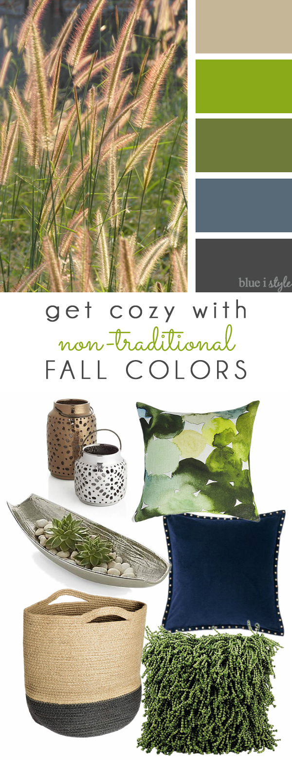 Green and Blue Fall Color Mood Board