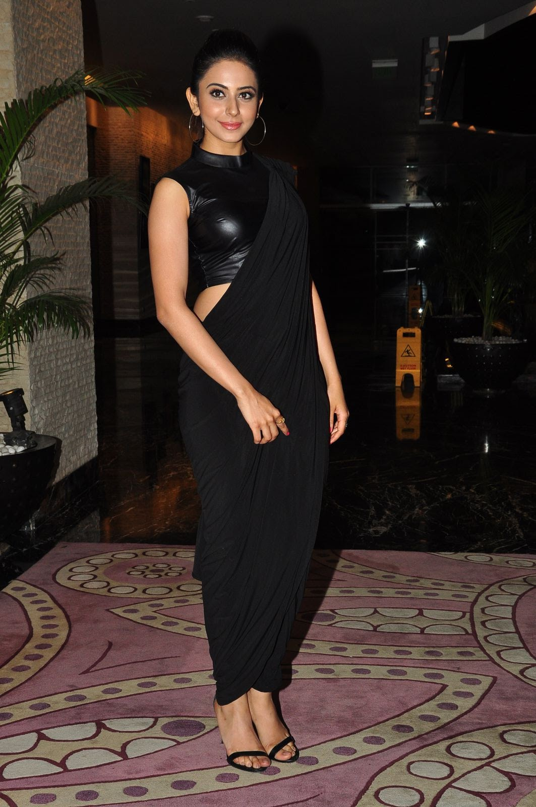 Rakul Preet Singh New Stills In Black Saree