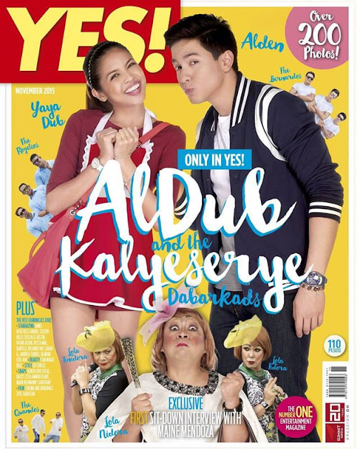 YES! Magazine ALDUB with KALYESERYE Special Issue for November
