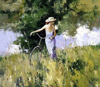 Пленэрная живопись и женские горные велосипеды