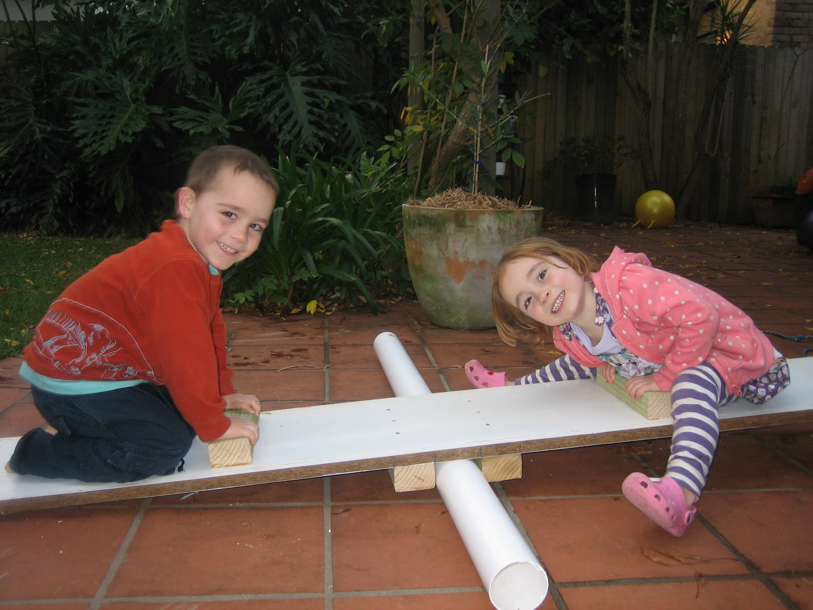 Crafty little people Home made seesaw
