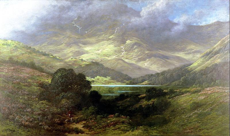 Green landscape of Scottish Highlands