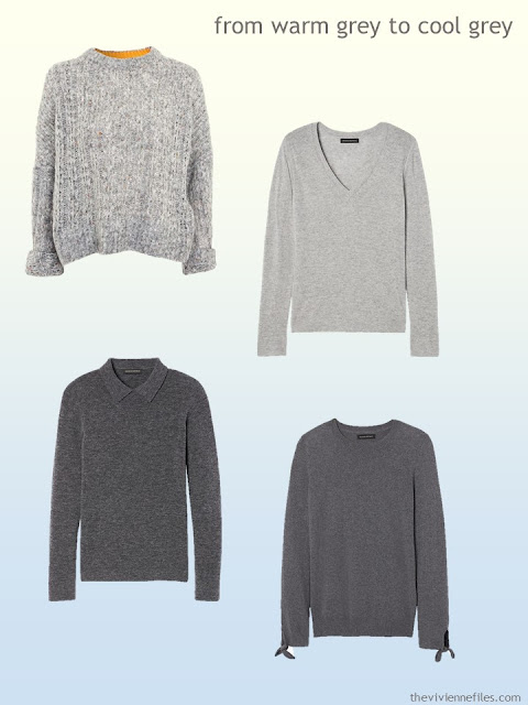grey sweaters from warm grey to cool grey