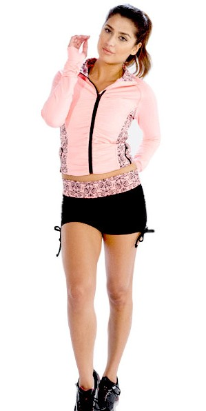 Pink Printed Jacket for Women
