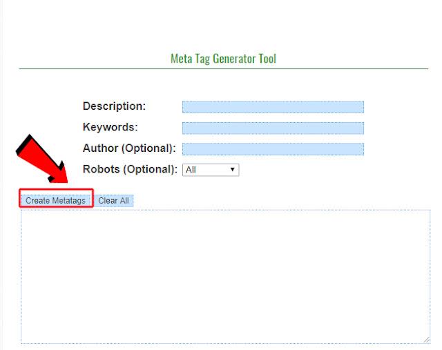 Generate Free Meta Tag