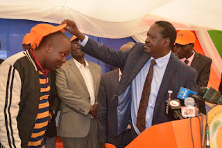 Raila Odinga welcomes West Pokot leaders to NASA. PHOTO | Courtesy