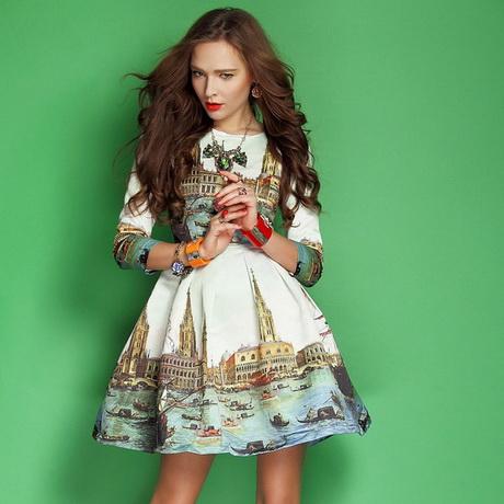 vestido de moda estampado