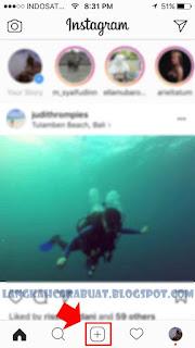 cara post foto di instagram