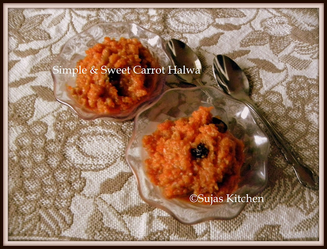 Carrot Halwa with simple ingredients