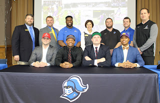 Four Montgomery Catholic Seniors Sign to Play Football on National Signing Day 1