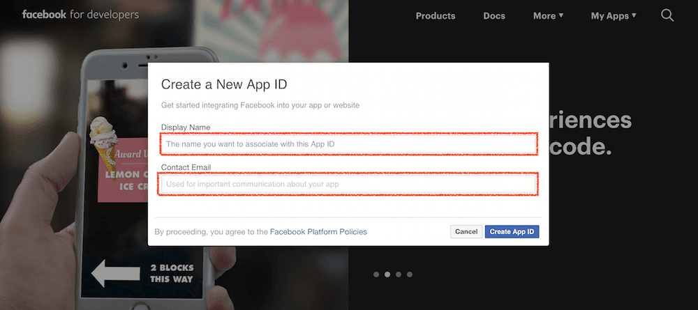 Create a New App ID