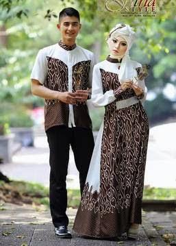 Contoh baju muslim couple trendy untuk lebaran